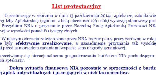 OIA w Kielcach protestuje