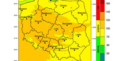 GIOŚ: podwyższone stężenia ozonu