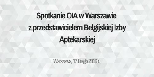 Dyrektywa fałszywkowa: spotkanie z przedstawicielem Belgijskiej Izby Aptekarskiej