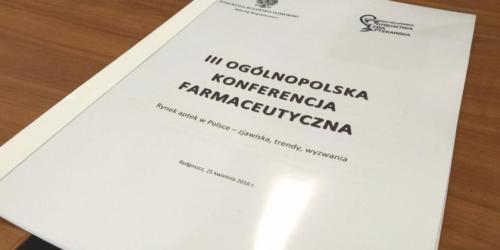 III Ogólnopolska Konferencja Farmaceutyczna w Bydgoszczy