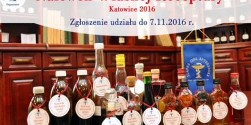 IV Konkurs Śląskiej Izby Aptekarskiej Nalewek Własnej Receptury