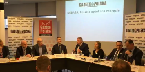 """Debata Gazety Polskiej: """"Polskie apteki na zakręcie"""". TRANSMISJA"""