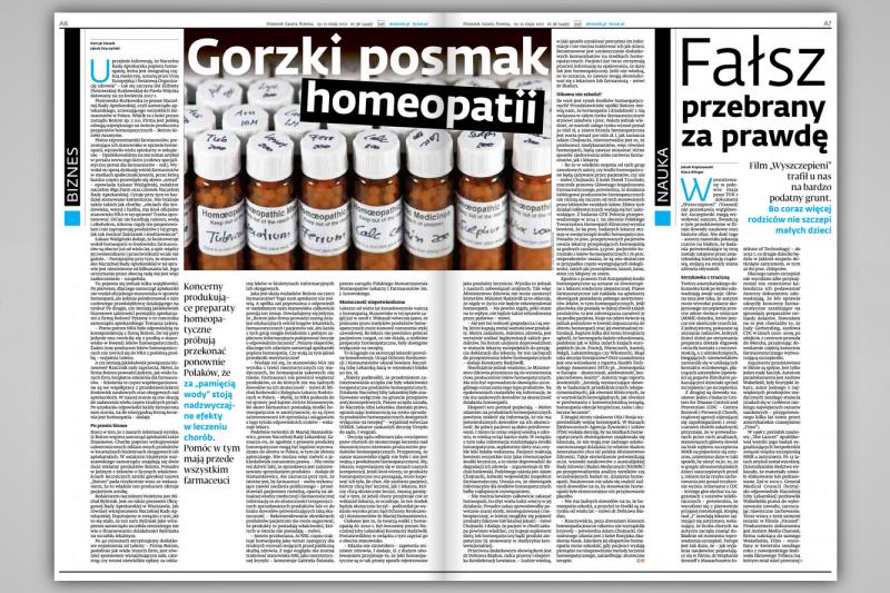 Z informacji dziennikarzy DPG wynika, że Boiron wspiera samorząd aptekarski także finansowo.