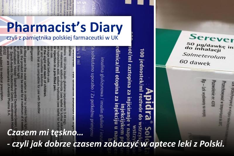 Polskie leki w brytyjskiej aptece (fot. Dorota Karmowska-Rzucidło)
