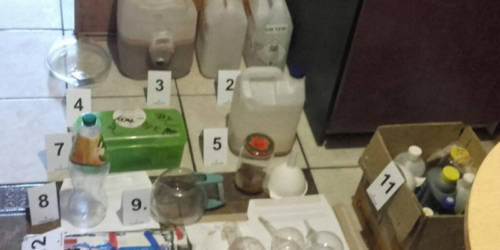 CBŚP zlikwidowało laboratorium metamfetaminy w Starym Zawidowie