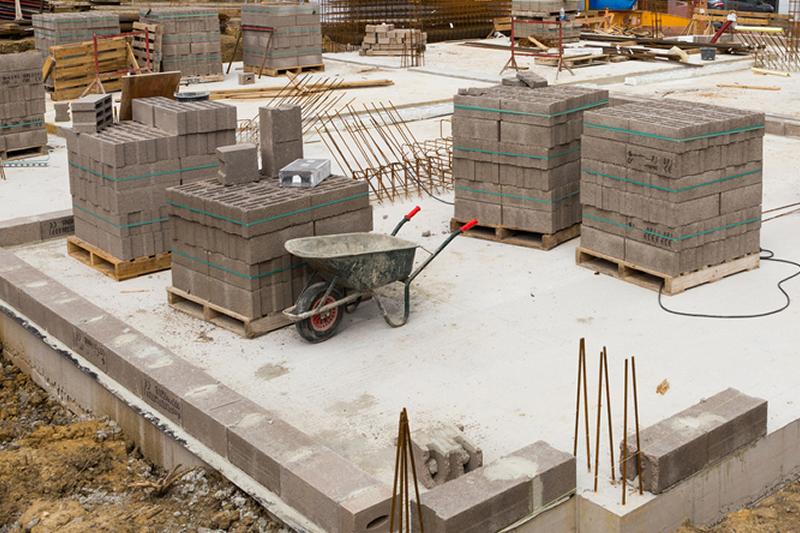 Betonowe bloczki. Budowa.