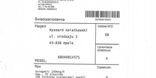 WIF Opole ostrzega przed fałszywymi receptami