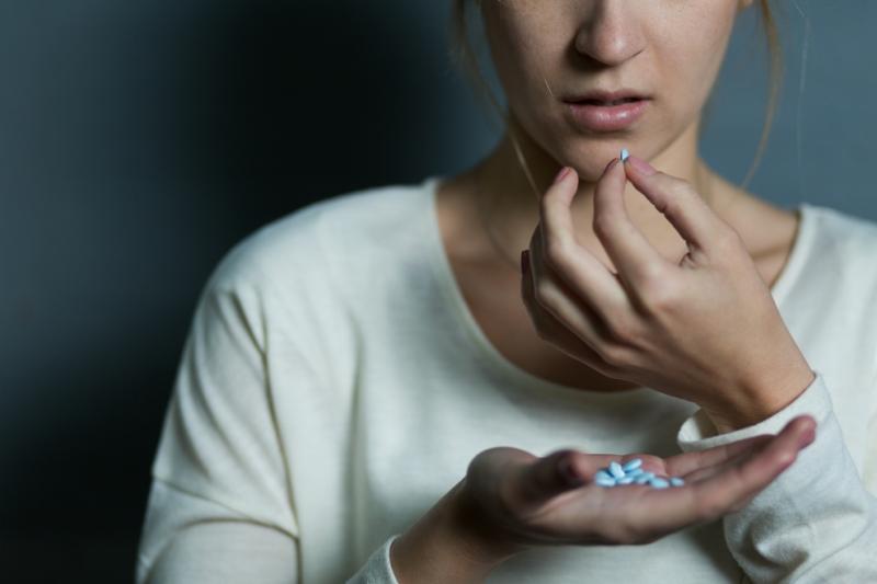U osób regularnie przyjmujących leki przeciwdepresyjne ryzyko zgonu było o 33 proc. wyższe. (fot. Shutterstock)