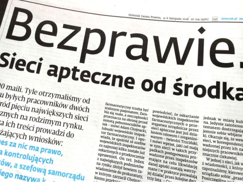 Patryk Słowik i Jakub Styczyński ujawnili w swoim artykule to, co w środowisku aptekarskim wiadomo już od dawna. (fot. mgr.farm)