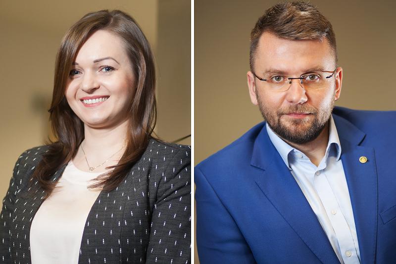 Iwona McManus (koordynator projektu) i Michał Kaczmarski (prezes Krajowej Organizacji Weryfikacji Autentyczności Leków). (fot. MGR.FARM)