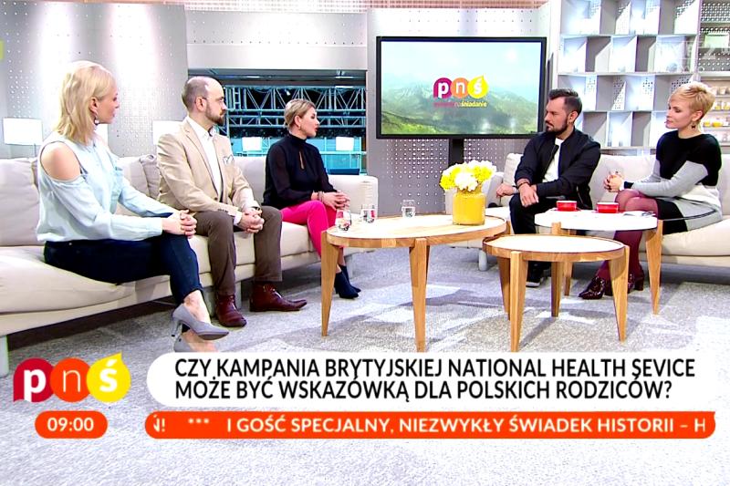 Rodzice często mają tę pokusę, by leczyć samodzielnie dzieci troszkę już za tą granicą, kiedy powinni. (fot. pytanienasniadanie.tvp.pl)