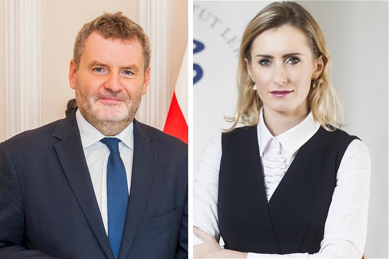 Paweł Piotrowski (GIF) i Anna Kowalczuk (NIL) we wspólnym stanowisku dot. fałszywych leków w aptekach (fot. MZ / MGR.FARM)