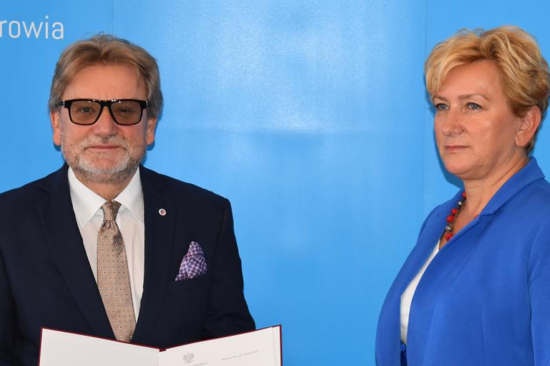 Jarosław Pinkas – były wiceminister zdrowia, konsultant krajowy ds. zdrowia publicznego oraz pełnomocnik prezesa Rady Ministrów do spraw organizacji struktur instytucji publicznych administracji publicznej właściwych w zakresie bezpieczeństwa żywności. (fot. MZ)