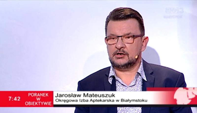 Jarosław Mateuszuk wyjaśnił, że przyczyn trudności z dostępem do leków może być wiele. (fot. TVP3 Białystok)