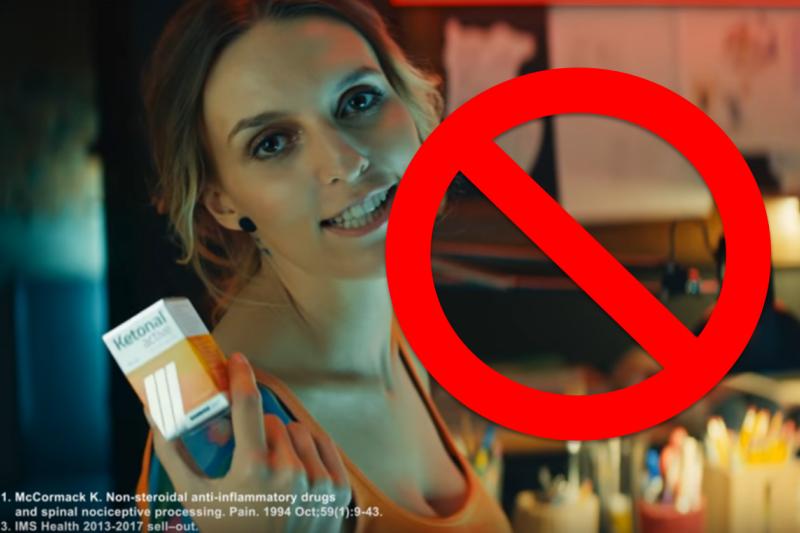 Reklama objęta decyzją GIF nadal jest dostępna w serwisie YouTube (fot. screen YouTube)