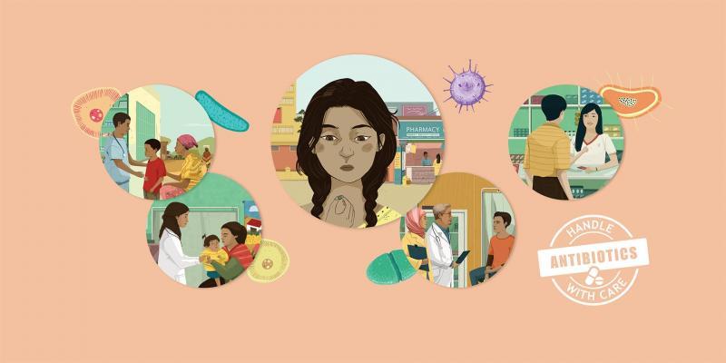 WHO przypomina w swojej akcji między innymi o roli, jaką do odegrania w walce z antybiotykoopornością, mają farmaceuci (fot. WHO)