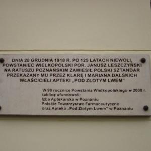 Farmacja a Powstanie Wielkopolskie