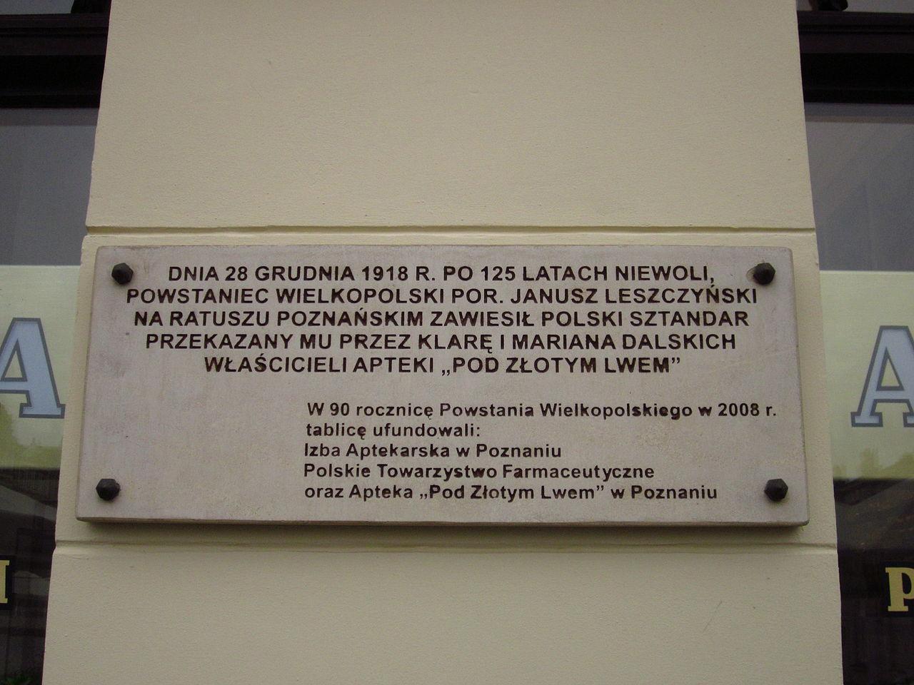 Powstanie Wielkopolskie odbyło się z dużym udziałem wielkopolskich aptekarzy (fot. Henryk Borawski, Creative Commons)