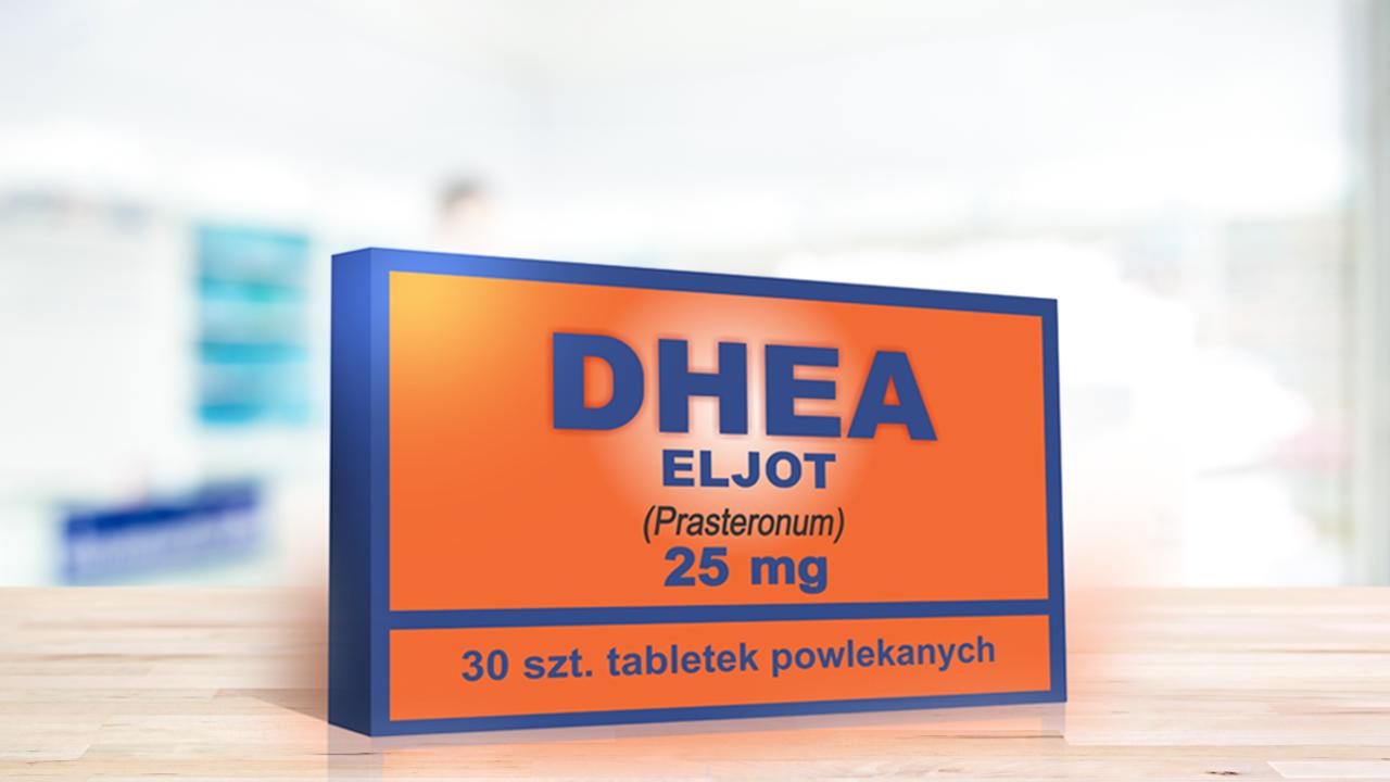 DHEA Eljot zostało wstrzymane z powodu nieprawidłowych wyników zawartości substancji czynnej w tabletce oraz uwalniania substancji czynnej (fot. eljotfarm.pl)