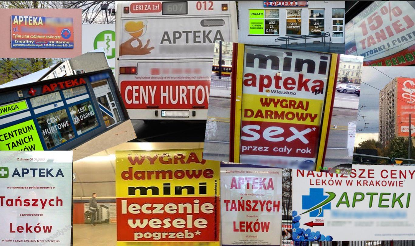 Naczelna Izba Aptekarska udowadnia, w jaki sposób niektórzy przedsiębiorcy łamią zakaz reklamy aptek (fot. NIA)