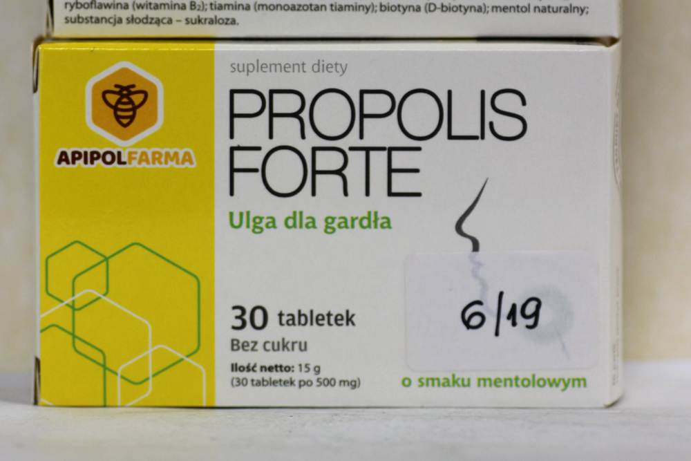 Farmina Sp. z o. o. zdecydowała o dobrowolnym wycofaniu wszystkich produktów, do produkcji których użyto podejrzaną partię ekstraktu propolisowego (fot. GIS)