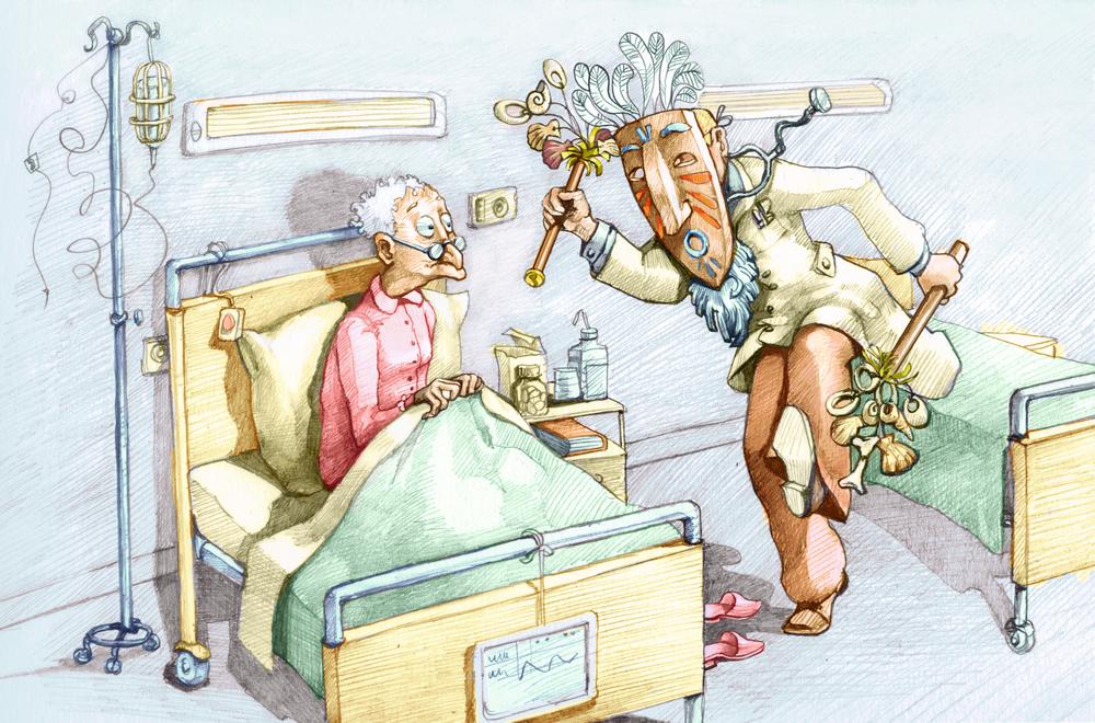 """""""Ciemnogród, kryminał i zbrodnia"""" - tak specjaliści określają niektóre z pomysłów rodzimych znachorów. Niektóre z nich jeżą włosy na głowie... (fot. Shutterstock)"""