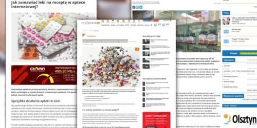 Wysyp artykułów promujących aptekę internetową. Czy łamią zakaz reklamy?