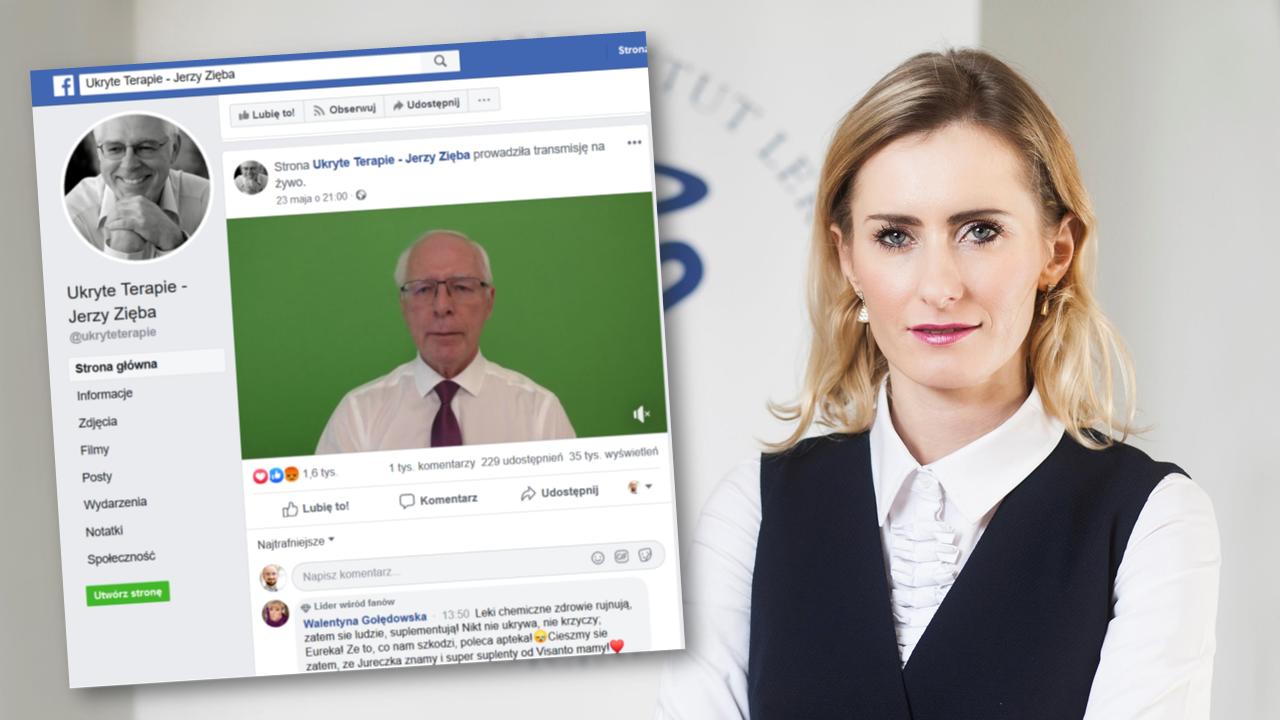 Jerzy Zięba winę za sytuację swojej firmy, zrzuca na prezes NIL-u dr n. farm Annę Kowalczuk i dotarczoną przez jej pracowników ekspertyzę (fot. YT/MGR.FARM)