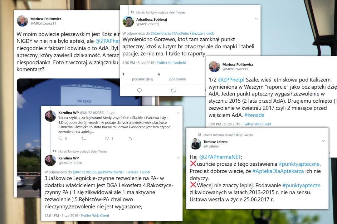 Farmaceuci na Twitterze wskazywali dziury w raporcie ZPA PharmaNET. Miejscowości, w których to punkt apteczny, a nie apteka, były likwidowane (fot. TT/MGR.FARM)