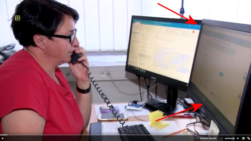 Kadr z wieczornego wydania Wiadomości (15 lipca). Na ekranie konsultantki infolinii wyszukiwarka KtoMaLek.pl
