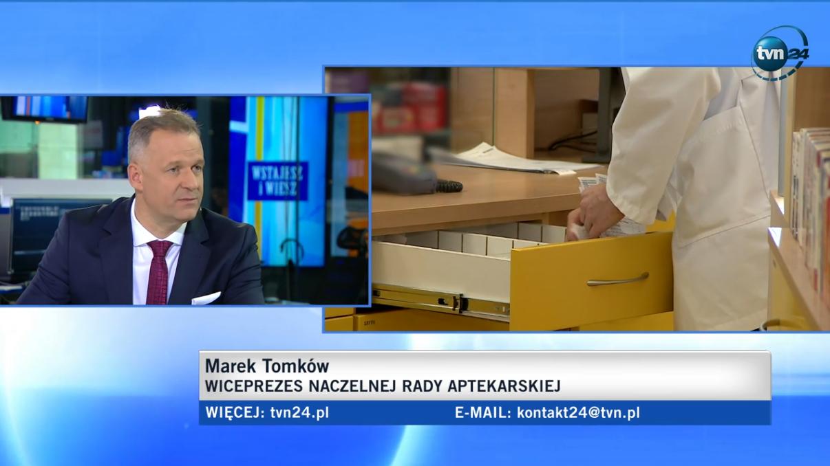 """""""Myślę, że ta infolinia to nie jest najszczęśliwszy pomysł"""" - mówił Marek Tomków w TVN24 (fot. screen TVN24.pl)"""