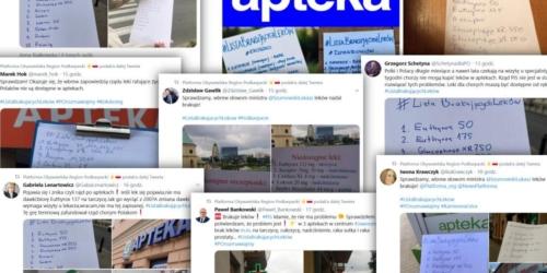 Politycy odwiedzili kilkadziesiąt aptek w całej Polsce. Na Twitterze zawrzało…