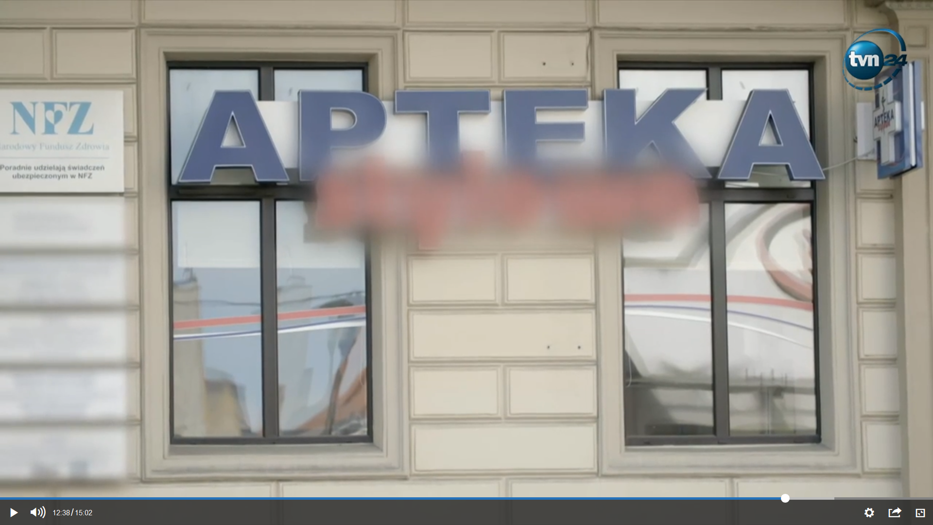 Tylko jedna apteka, na przestrzeni zaledwie półtora miesiąca, nielegalnie sprzedała leki warte 800 tysięcy złotych (fot. TVN24)