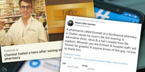 Irlandia: Farmaceuta okrzyknięty bohaterem. Uratował życie pacjentce…