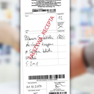 Fałszywa recepta na Relanium ze szpitala w Zabrzu