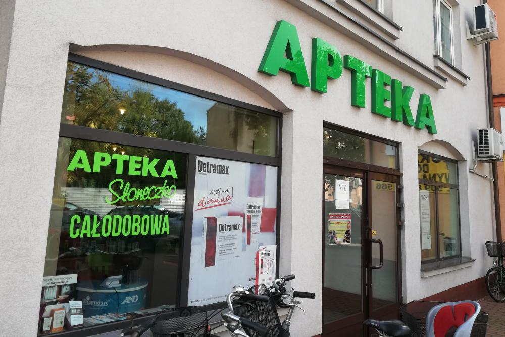 """Pracownicy apteki """"Słoneczko"""" w Łowiczu zostali poddani kwarantannie. Właściciel zamknął obie swoje apteki (fot. MGR.FARM)"""