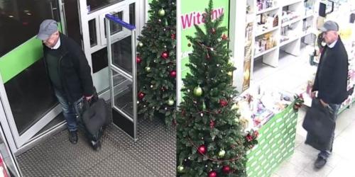 Senior podejrzany o kradzież z apteki kosmetyków za 1400 zł…