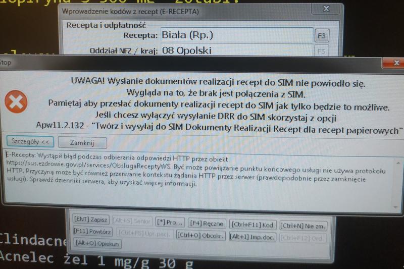 Coraz częstszym przedmiotem uwag farmaceutów jest utrudniony dostęp do SIM (fot. Twitter/Maciej Birecki)