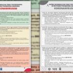 WAŻNE: Plakat dla aptek na temat postępowania w przypadku koronawirusa