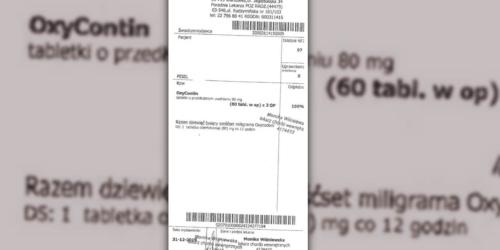Ostrzeżenie przed fałszywą receptą na Oxycontin 80 mg