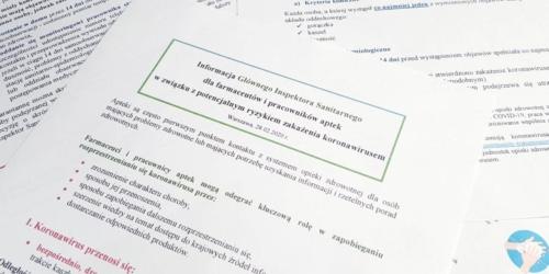 WAŻNE: Materiały dla farmaceutów w sprawie koronawirusa