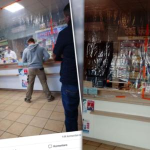 Folia zamiast szyby? Zdjęcie z apteki robi furorę w sieci…