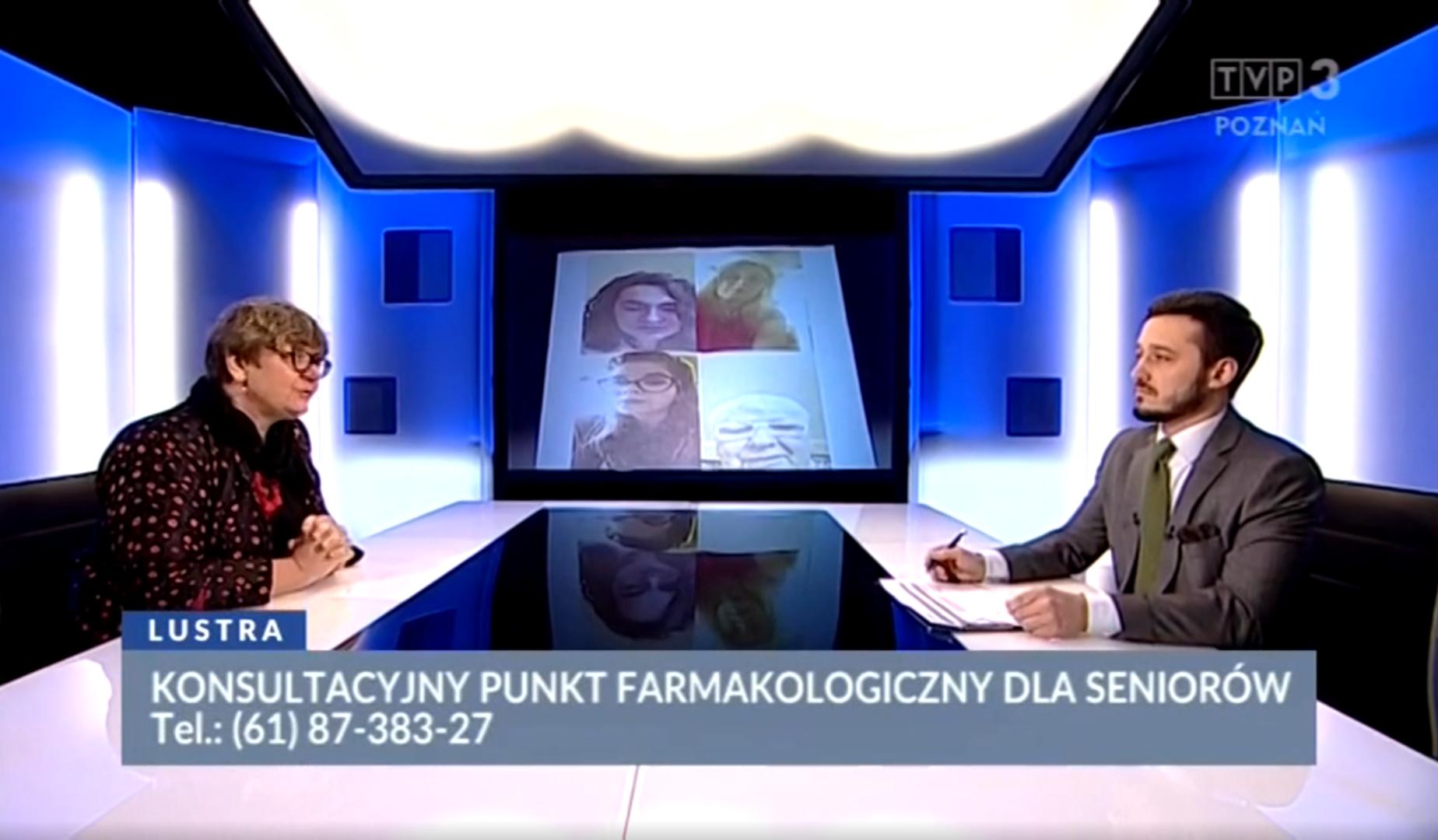 Internetowo-Telefoniczny Punkt Konsultacyjny to kolejna inicjatywa prof. Katarzyny Wieczorowskiej-Tobis oraz dr Agnieszki Neumann-Podczaski (fot. TVP3 Poznań)