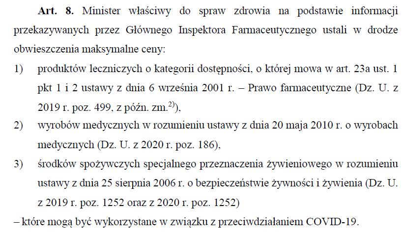 Faragment ustawy przyjętej przez Sejm