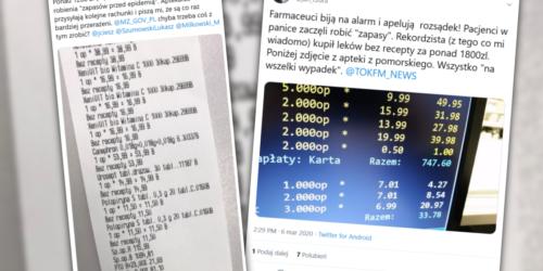 Rekordzista kupił leki za ponad 1800 zł! Farmaceuci pokazują paragony…