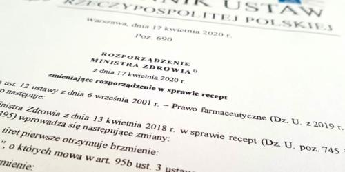 Dziennik Ustaw: kolejny akt prawny dotyczący farmaceutów