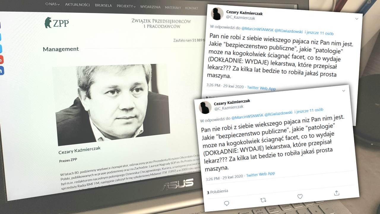 Cezary Kaźmierczak to prezes ZPP. Odznaczony przez Prezydenta Krzyżem Oficerskim Orderu Odrodzenia Polski... (fot. Screen/Twitter)