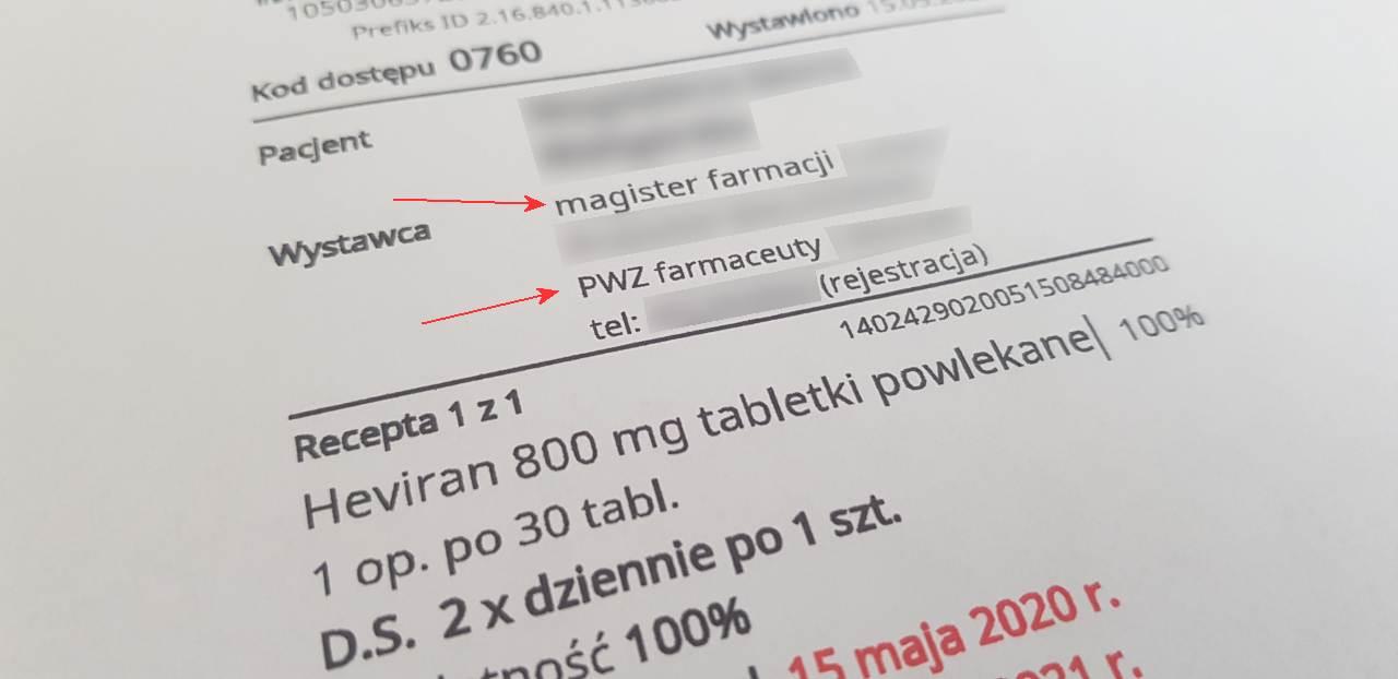Farmaceuci mogą już logować się do aplikacji gabinet.gov.pl i wystawiać swoje recepty (fot. MGR.FARM)