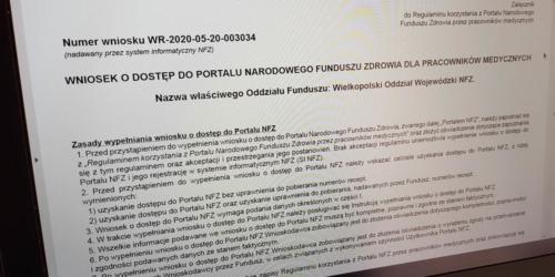 Farmaceuci mogą już składać wnioski o dostęp do Portalu NFZ