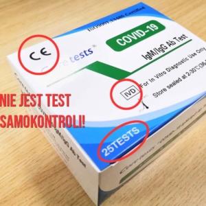 Testy na COVID-19 z aptek nie są przeznaczone dla pacjentów